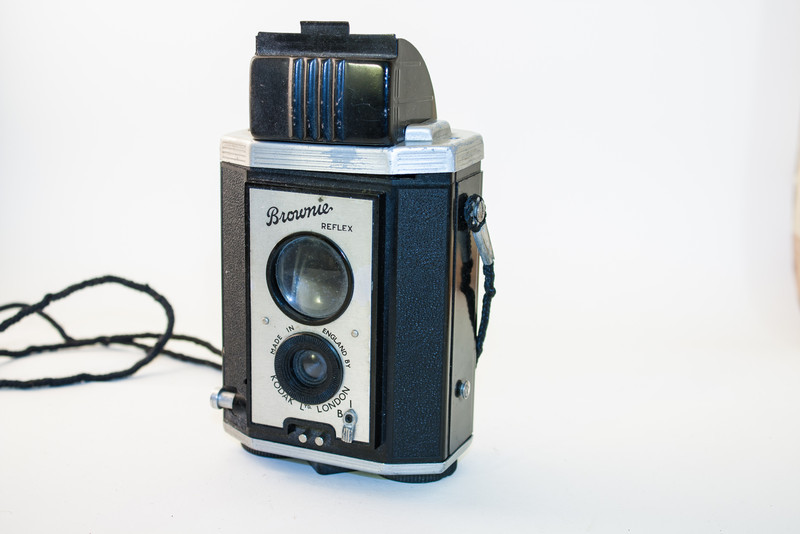 Kodak Brownie Reflex One of many forerunners to the Brownie Reflex 20, this camera dates to about 1940.