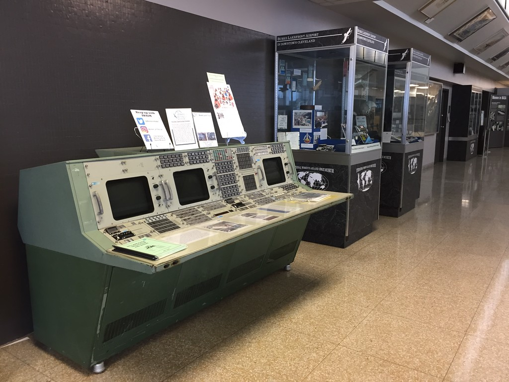 . Courtesy of Katie Brinager � International Women�s Air &amp; Space Museum <br> An exhibit at the International Women�s Air &amp; Space Museum in Cleveland.