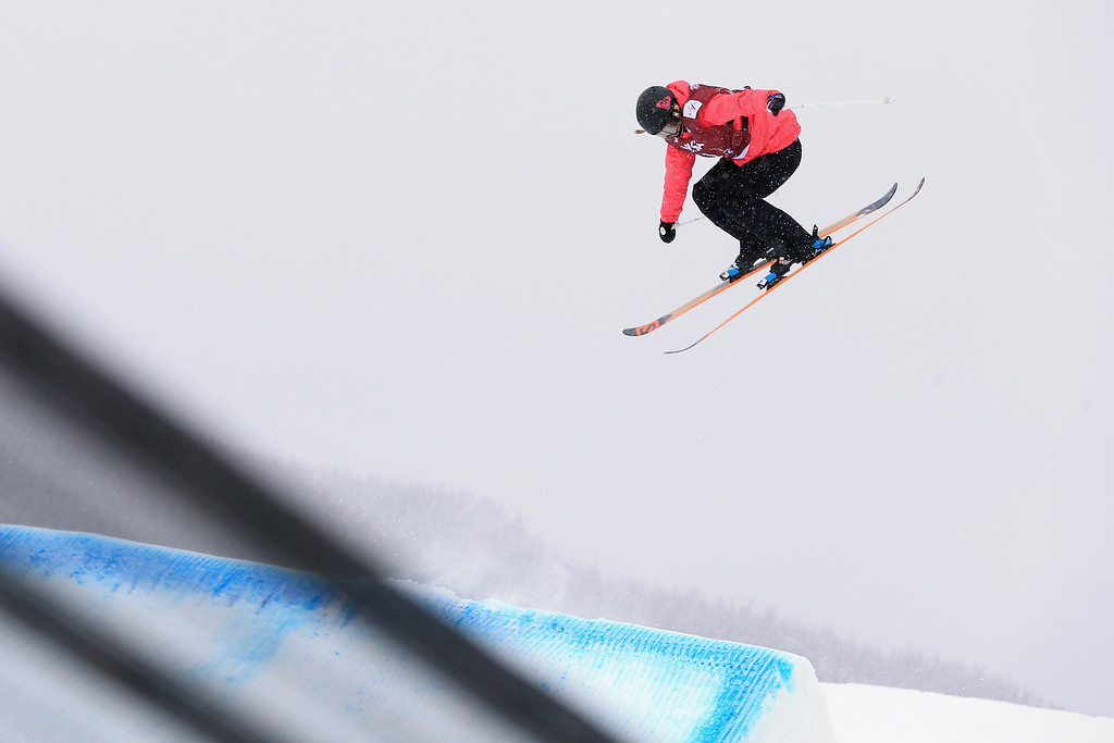 . Dara Howell of Canada skis to first place in the women\'s FIS Slopestyle Ski World Cup at the U.S. Snowboarding and Freeskiing Grand Prix on December 21, 2013 in Copper Mountain, Colorado.  (Photo by Doug Pensinger/Getty Images)