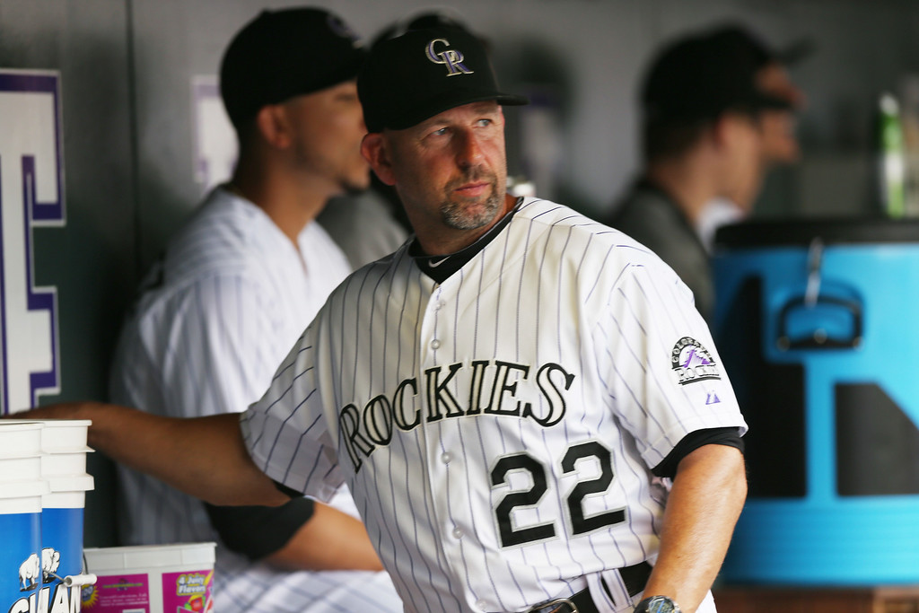 . Colorado Rockies manager Walt Weiss looks on in the fifth inning of a baseball game against the Washington Nationals in Denver, Wednesday, July 23, 2014. (AP Photo)