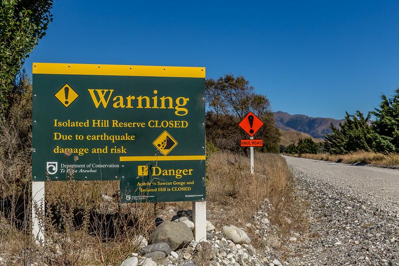 Der Besuch des «Slot Canyon» im «Sawcut Gorge» fällt wegen Erdbebenschäden aus