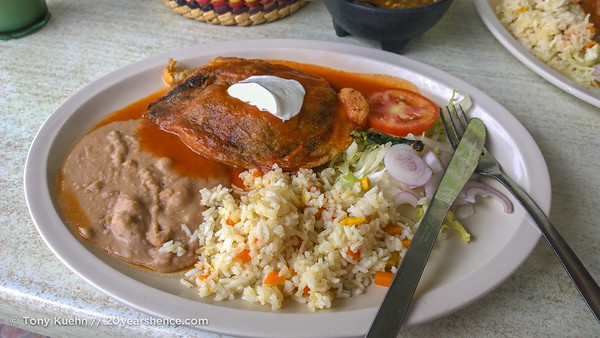 Chile Rellenos in Mexico. Photo: Tony Kuehn