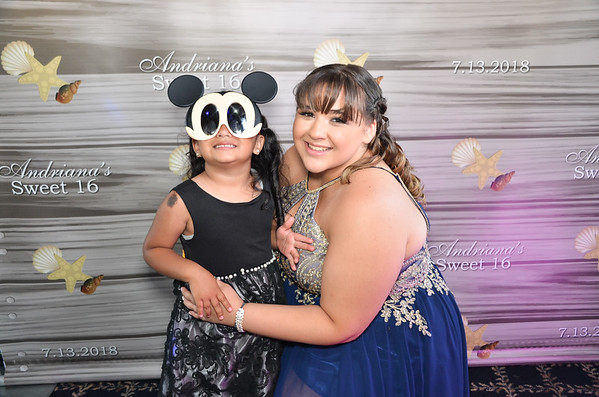 Andriana's Sweet 16 Photo Booth Pictures