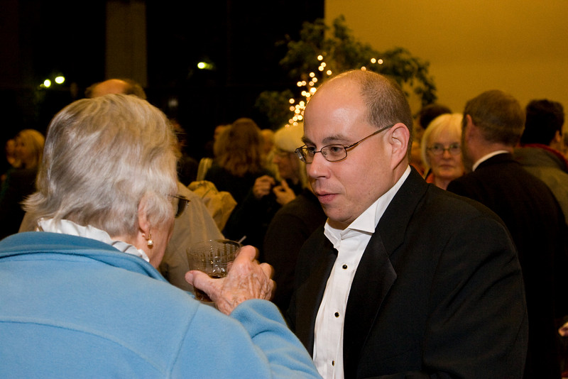 David Freiman chats with May Raila -- HSO 25th anniversary post-concert Gala
