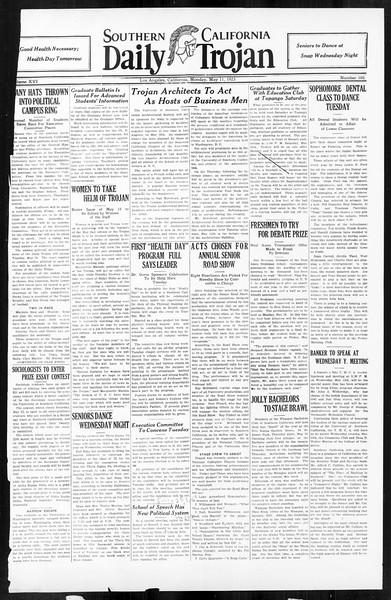 Daily Trojan, Vol. 16, No. 102, May 11, 1925