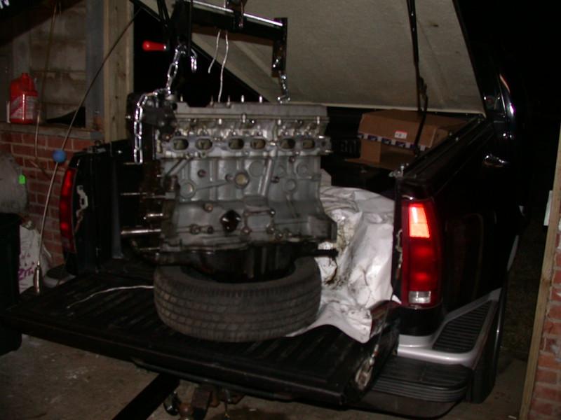 unloading the engine