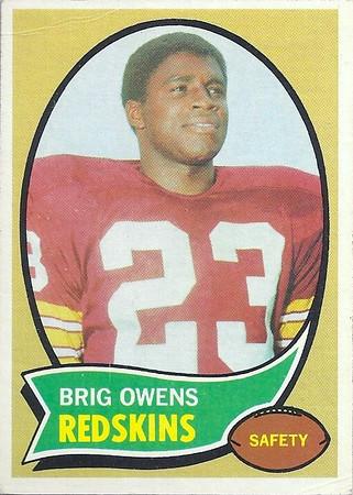 1970s Redskins Cards