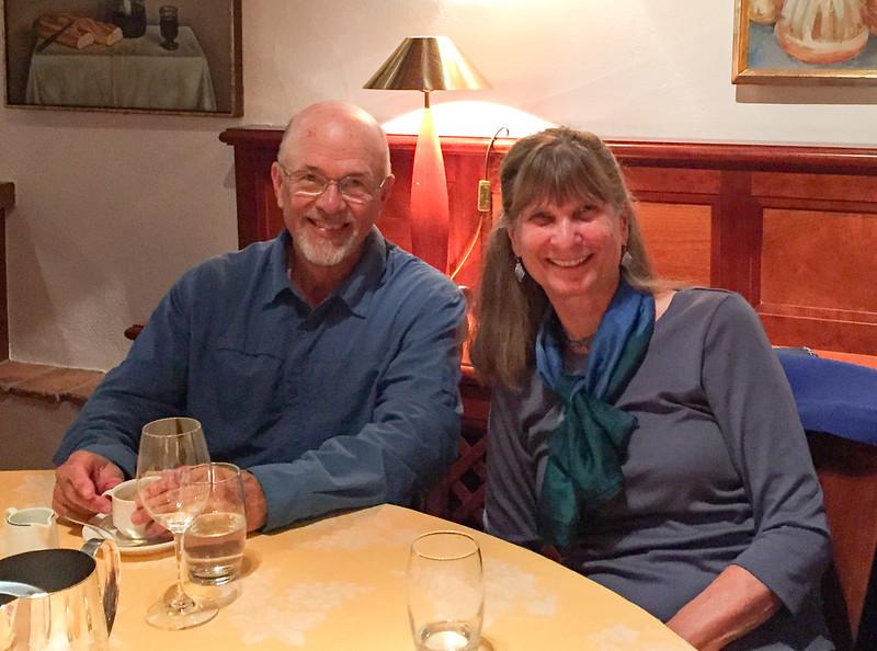 Ken & Robin at the farewell dinner
