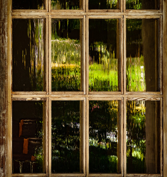 Window, Adobe Lodge, Santa Clara University, California, 2010