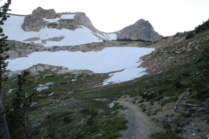 Lots more snow and ice on the descent from Paintbrush Divide