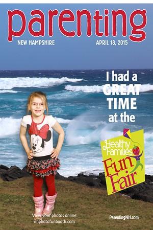 Healthy Families Fun Fair by Parenting NH 4/18/15 (Greenscreen) @ SNHU Field House - Hooksett, NH