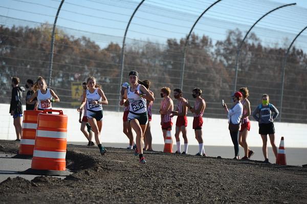 D2 Girls at 2.3 Miles Section 1 - 2020 MHSAA LP XC Finals