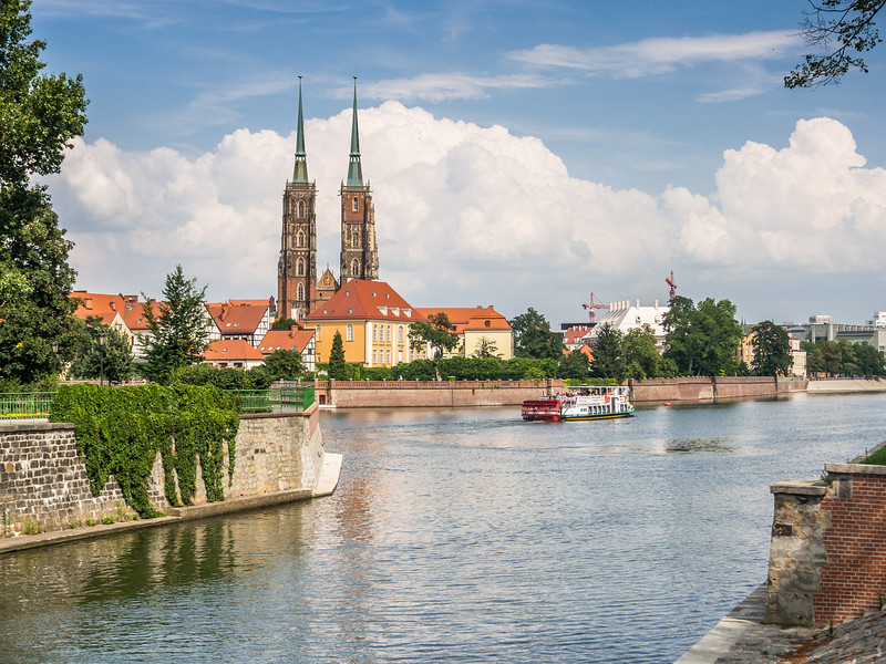 Wrocław Cathedral on the Oder, Poland