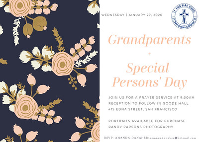 Grandparents/Special Persons' Day 2020