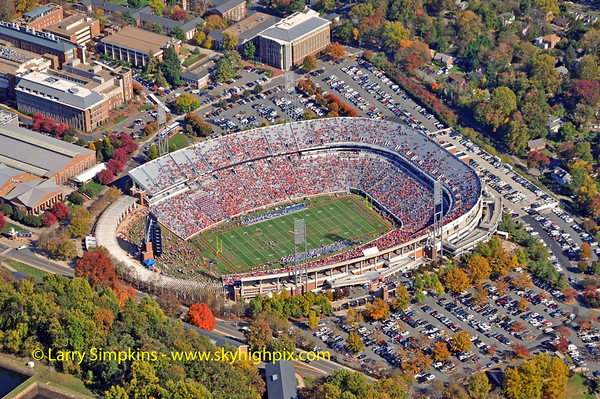 Aerial photos of Charlottesville & The University of Virginia