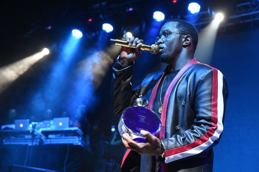 ". Rapper Puff Daddy performs at HOT 97\'s ""The Tip Off\"" at Madison Square Garden on Thursday, Feb 12, 2015, in New York. (Photo by Scott Roth/Invision/AP)"