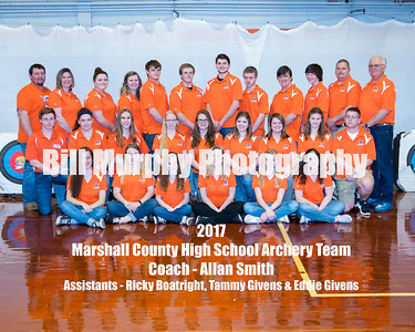 2017 Marshall County High School Archery Team
