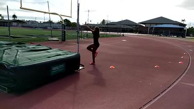high jump practice