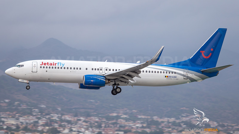 JetairFly / Boeing B737-8AS / OO-CAN (Canjet with Jetairlfy titles livery)