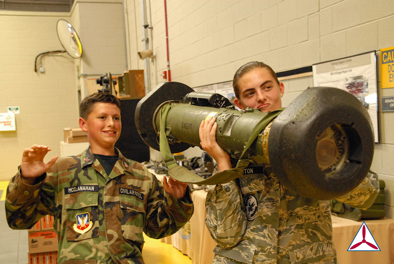 Cadet students get hands-on time with the Javelin Missile System Field Tactical Trainer. Photo Credit: C/SSrg Pierce Dineen, GA002