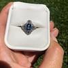 1.41ctw Art Deco Style Aqua and Diamond Dinner Ring 27