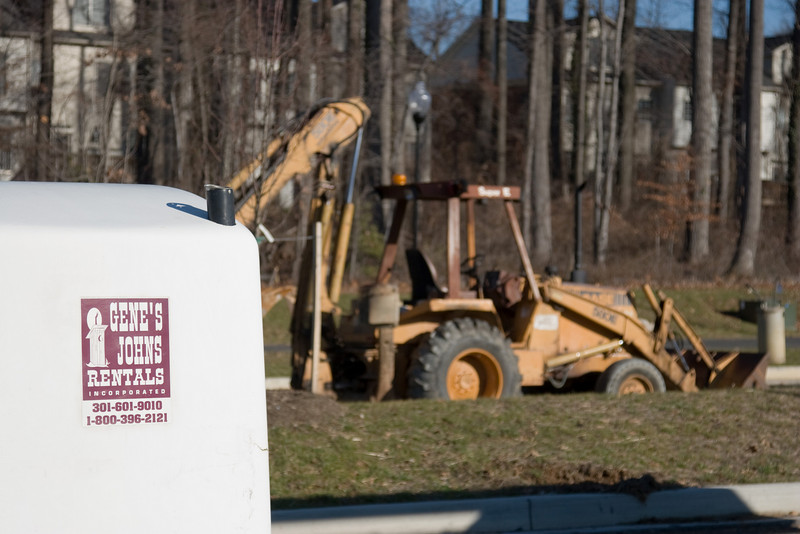 Gene's Johns --at Montrose Parkway construction (Rockville, MD)