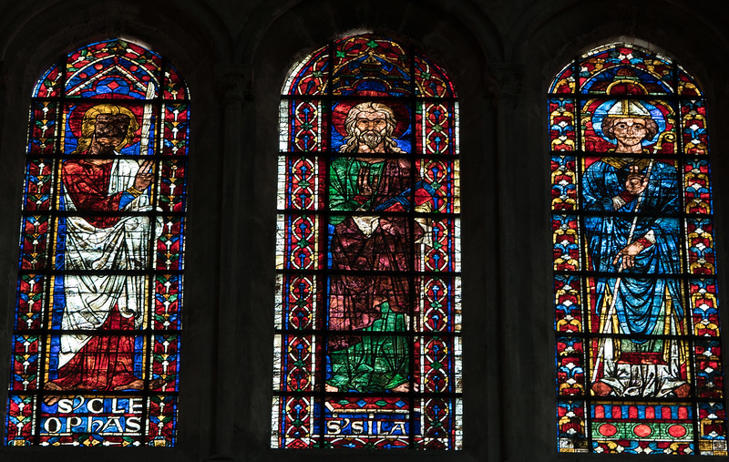 Bourges Cathedral Clerestory Windows, Cleophas, Silas and a Bishop