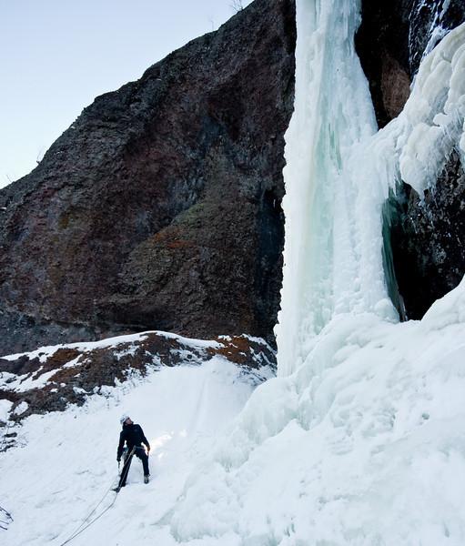 2010 February Ice Climb Near Hulhome Falls