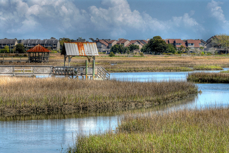 Marshes and boat docks in Litchfield Beach, SC on Friday, March 23, 2012. Copyright 2012 Jason Barnette