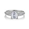 1.19ct Art Deco Carre Cut Diamond Solitaire 0