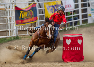 Pee Wee Barrel Racing  Ashcroft 2011