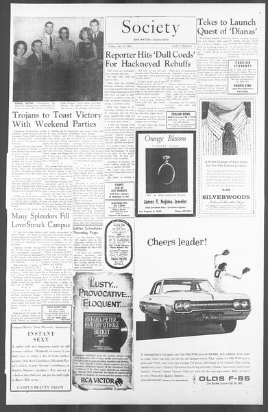 Daily Trojan, Vol. 56, No. 15, October 09, 1964