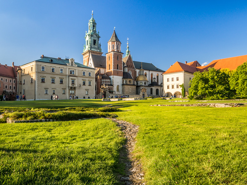 Wawel Cathedral from the Outer Yard, Kraków, Poland
