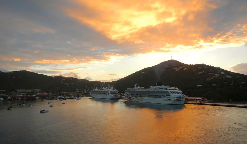 Sunrise in our next port, Charlotte Amalie, St. Thomas