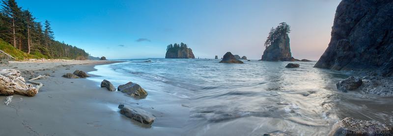 Panorama of Second Beach - La Push, WA