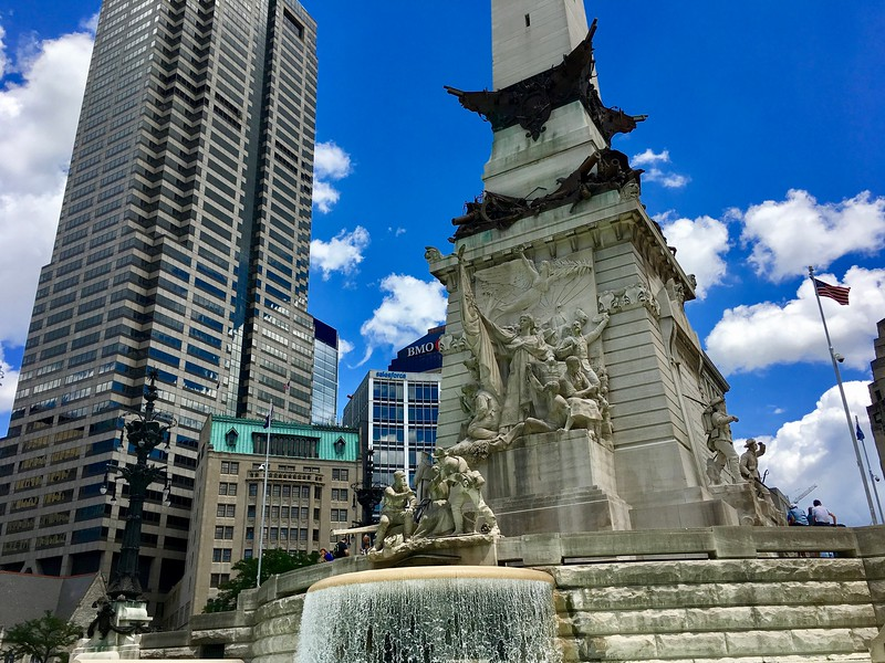 Monument Circle in Indianapolis