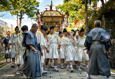 Shrine Bearers, Fall Yabusame Parade, Nikko, Japan - 2014
