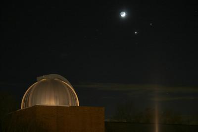 Venus, Saturn, Moon at Observatory