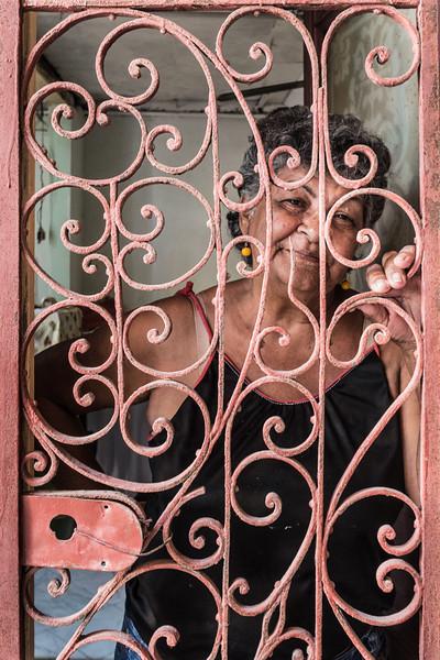 Woman in doorway, Havana