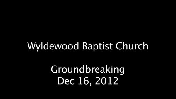 Groundbreaking - Dec 16 2012