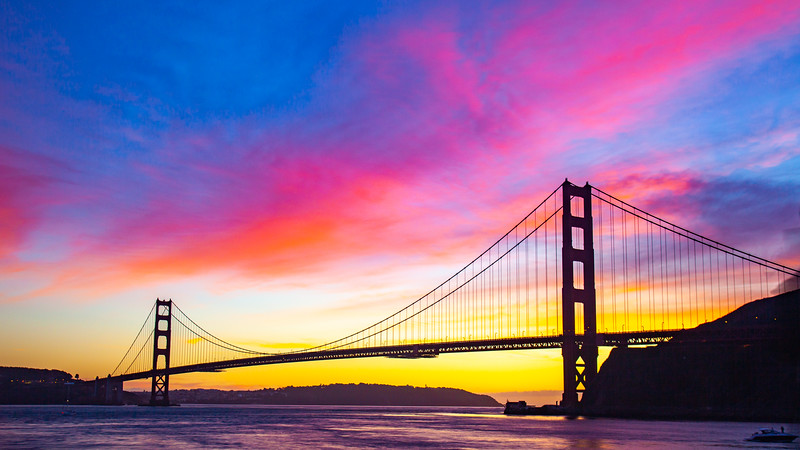 Golden Gate Cotton Candy Sunset