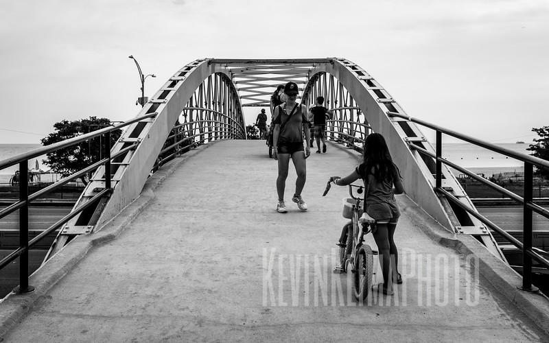 Pedestrian Bridge over LSD at North Ave Beach