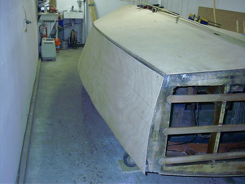 Starboard side rear view.