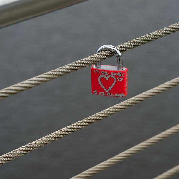 Close-up of love lock, Londonderry, Northern Ireland, United Kingdom