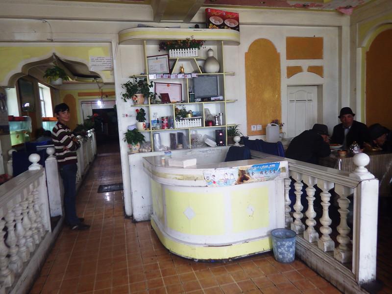 Typical Tajik restaurant in Tashkurgan...