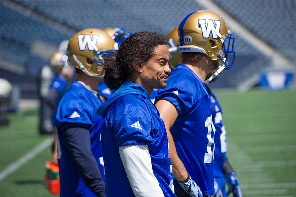 DAVID LIPNOWSKI / WINNIPEG FREE PRESS  Winnipeg Blue Bombers #3 Macho Harris during practice at Investors Group Field Tuesday June 21, 2016.