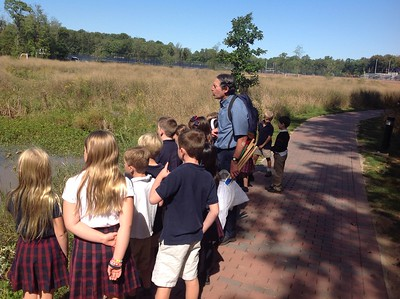 2F Science class in the Preserve