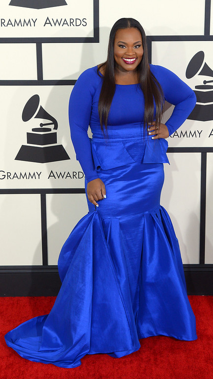 . Tasha Cobbs arrives at the 56th Annual GRAMMY Awards at Staples Center in Los Angeles, California on Sunday January 26, 2014 (Photo by David Crane / Los Angeles Daily News)
