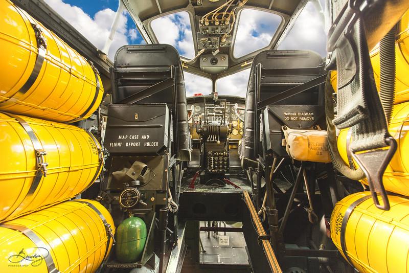 """B-17  Cockpit """"Clouds"""""""
