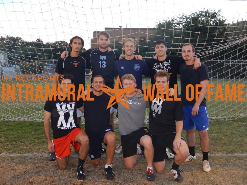 Fall 2015 Soccer Men's B Champion Megs & Kegs